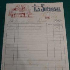 Facturas antiguas: 1963 LA SUCURSAL FACTURA ACEITE. Lote 210548100