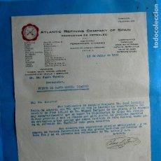 Facturas antiguas: FACTURA ATLANTIC REFINING COMPANY OF SPAIN. PRODUCTOS DEL PETRÓLEO, 1926.. Lote 210600342