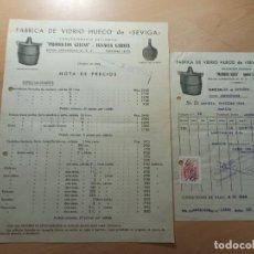 Facturas antiguas: ANTIGUA FACTURA GARRAFAS FABRICA DE VIDRIO HUECO PRODUCTOS GLLES BARCELONA 1944. Lote 210623142