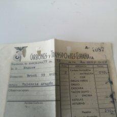Facturas antiguas: DOCUMENTO CARBONES Y TRANSPORTES ESPAÑA S. A. Lote 214817353