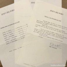 Facturas antiguas: JESÚS DEL POZO (DISEÑADOR). FACTURA DEL AÑO 1990 (CONSTA DE 3 PÁGINAS).. Lote 216800423