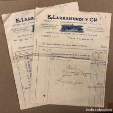 Facturas antiguas: E. LARRAMENDI Y CÍA. TALLERES MECÁNICOS (VITORIA). FACTURA DE 1919; NOMBRE COMITÉ ELECTORAL VASCO. Lote 216802632