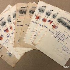 Facturas antiguas: ALTOS HORNOS DE VIZCAYA. LOTE DE 11 FACTURAS DEL AÑO 1942, A NOMBRE DE MIKELDI S.A. (DURANGO). TIMBR. Lote 216810121