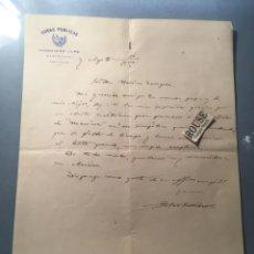 Facturas antiguas: MONZON - ANTIGUA CARTA 1922 MANDADA POR EL INGENIERO JEFE OBRAS PUBLICAS BLAS SORRIBAS BASTARAN. Lote 217085673