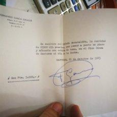 Facturas antiguas: RECIBO FERNANDO GARCÍA ELEJALDE A EL ORFEÓN BARACALDES POR PONER A PUNTO UN PIANO EN EL CINE CONSA. Lote 217361553