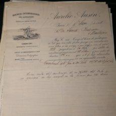 Facturas antiguas: AURELIO AUSIN. ADUANAS. 1913. Lote 217482961