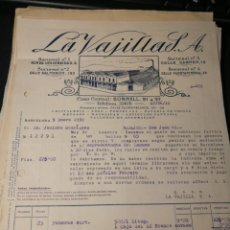Facturas antiguas: LA VAJILLA S.A.. BARCELONA 1933.. Lote 217483147