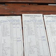 Facturas antiguas: FACTURAS COMERCIALES LA CASERA 1989. Lote 220093662