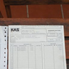 Facturas antiguas: LOTE DE FACTURAS KAS 1989. Lote 220094533
