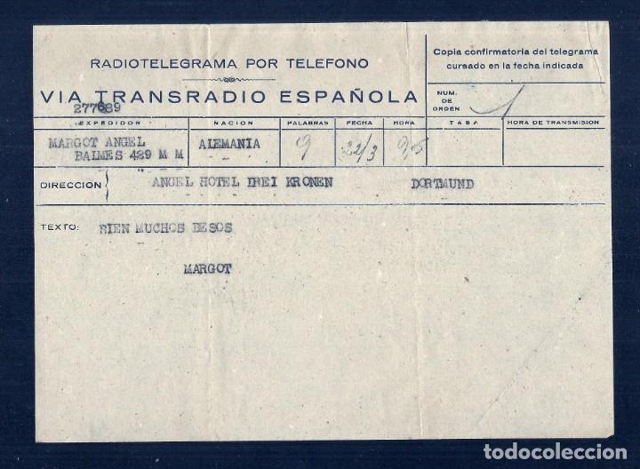 Facturas antiguas: L35-33 Telegramas VIATRANSRADIO ESPAÑOLA para todo el mundo. - Foto 3 - 221730915
