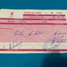 Facturas antiguas: RECIBO DE COBRO HOTEL NACIONAL DE CUBA. Lote 222293290