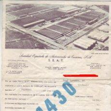 Facturas antiguas: SEAT 1430 - FACTURA DE COMPRA Y FACTURAS DE EXTRAS - LOTE DE 3 - VER FOTOS.. Lote 222412661