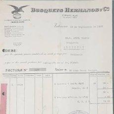 Facturas antiguas: FACTURA. BUSQUETS HERMANOS Y CÍA. VALENCIA. ESPAÑA 1928. Lote 222826120