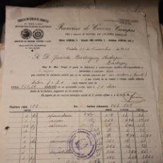 Facturas antiguas: FRANCISCO DE CÁCERES CAMPO. FABRICA DE JUGUETES CÓRDOBA 1939. Lote 222833548
