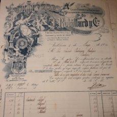 Facturas antiguas: L.ROBILLARD Y CIA. VALENCIA 1924.PERFUMES Y ESENCIAS. Lote 222833901