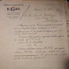Facturas antiguas: E GAL. MADRID 1915.. Lote 222834125
