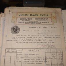 Facturas antiguas: JUSTO BAJO ÁVILA. SALAMANCA 1918.. Lote 222835482