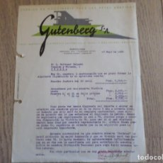 Facturas antiguas: FACTURA GUTENBERG 1936. Lote 222885507