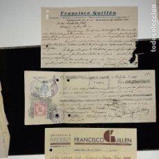 Facturas antiguas: FACTURA FARMACIA ORTOPEDIA GUILLÉN BARCELONA AÑOS 30+ PAGARÉ. Lote 223124500