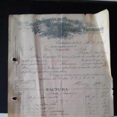 Facturas antiguas: FACTURA FARMACIA DROGUERÍA ÁLVAREZ HERMANOS CARTAGENA AÑO 1935. Lote 223125457