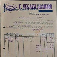 Factures anciennes: FACTURA. JERÓNIMO GARCÍA PÉREZ. T. VEGAZO ROMERO. ARTÍCULOS PIEL. UBRIQUE. ESPAÑA 1940. Lote 224032046