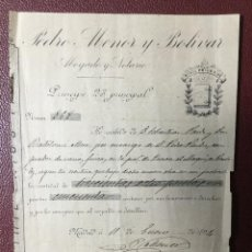 Faturas antigas: FACTURA , NOTARIO DE MADRID , 1894 , NIHIL PRIUS FIDE. Lote 225147886