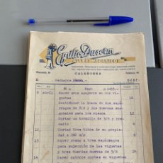 Facturas antiguas: CALAHORRA-FACTURA-TALLER MECÁNICO. EMILIO DUSERM. 1953. Lote 225787740