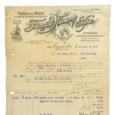 Facturas antiguas: FACTURA FÁBRICA DE SOGAS PIMENTÓN LA AMAPOLA, FRANCISCO NAVARRO CONESA. ESPINARDO MURCIA 1929. Lote 226139802