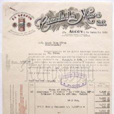Facturas antiguas: FACTURA FABRICA ELABORACION DE ACEITUNAS RELLENAS SERPIS. CANDIDO MIRO. ALCOY ALICANTE AÑO 1959. Lote 226141436