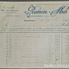 Factures anciennes: FACTURA. RAMÓN ABÓS. ALMACEN DE QUINCALLA, BISUTERÍA Y HULES. ZARAGOZA. ESPAÑA 1917. Lote 226343840