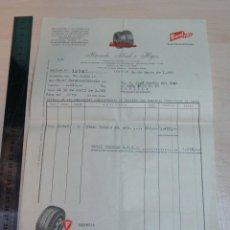 Facturas antiguas: FACTURA RECAMBIOS RICARDO ABAD E HIJOS AGENCIA FIRESTONE AÑO 1965. Lote 227621955