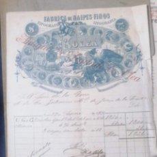 Facturas antiguas: FACTURA ANTUGUA FABRICA DE NAIPES Y FINOS SEGUNDA DE OLEA. Lote 227786395