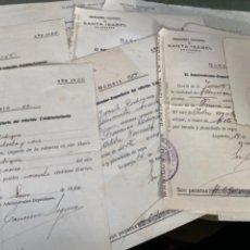 Facturas antiguas: LOTE FACTURAS ANTIGUAS MANICOMIO SANTA ISABEL LEGANÉS AÑOS 40. Lote 229035755