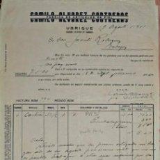 Factures anciennes: FACTURA. CAMILO ALVAREZ CONTRERAS. FÁBRICA DE ARTÍCULOS DE PIEL. UBRIQUE. ESPAÑA 1941. Lote 230915470