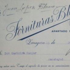 Facturas antiguas: ZARAGOZA FACTURA 1933 FORNITURAS BLANCO ARTÍCULOS PARA CORSÉS. Lote 231926650