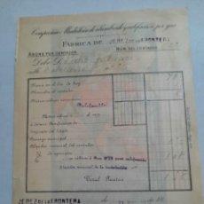 Facturas antiguas: FACTURA ANTIGUA .COMPAÑÍA MADRILEÑA DE ALUMBRADO Y CALEFACCIÓN. JEREZ DE LA FRONTERA.. Lote 232304890