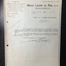 Facturas antiguas: ZARAGOZA , FACTURA AMADO LAGUNA DE RINS , APARATOS PARA CIENCIAS , 1933. Lote 233638085