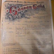 Facturas antiguas: GASTAR GALICIA.. INDUSTRIA DE FORES. BARCELONA 1922. Lote 235174975