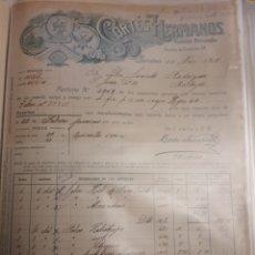Facturas antiguas: CORTES HERMANOS . BARCELONA 1915. Lote 235177400