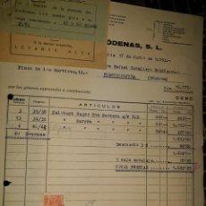 Facturas antiguas: FACTURA FÁBRICA HILADOS ALPARGATA ARTÍCULO GOMA MESEGUER RÓDENAS MURCIA 1953 PELOTARI CÓRDOBA VIÑETA. Lote 235354445