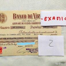 Facturas antiguas: 1958 - CHEQUE DE ABONO DE MATRÍCULA DEL COLEGIO DEL PILAR DE MADRID. Lote 236395930