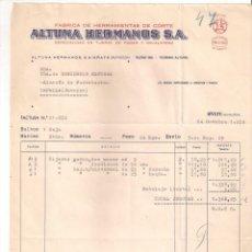Facturas antiguas: ANTIGUA FACTURA: ALTUNA HERMANOS. FABRICA DE HERRAMIENTAS. OÑATE ( GUIPUZCOA). AÑO 1959. Lote 236429240