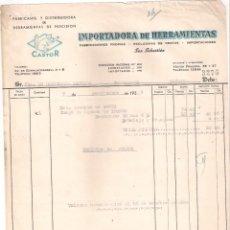 Facturas antiguas: ANTIGUA FACTURA: IMPORTADORA DE HERRAMIENTAS. CASTOR. SAN SEBASTIAN. AÑO 1955. Lote 236433480