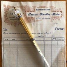 Facturas antiguas: JUMILLA- MURCIA- ESPARTO- FACTURA PASCUAL SANCHEZ MATEO- 1910. Lote 238442560