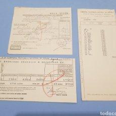 Facturas antiguas: FACTURAS TELEFONICA NACIONAL DE ESPAÑA , VILLENA , AÑO 1955. Lote 238516475