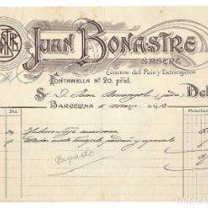 Factures anciennes: FACTURA- JUAN BONASTRE. SASTRERÍA. BARCELONA- 1913. Lote 240470855