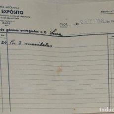 Facturas antiguas: FACTURA. JOSÉ EXPÓSITO. TORNERÍA MECÁNICA. OLOT. ESPAÑA 1949. Lote 245996815