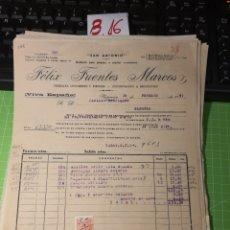 Facturas antiguas: FÉLIX FUENTES MARCOS. PLASENCIA CÁCERES. 1947. Lote 246055540