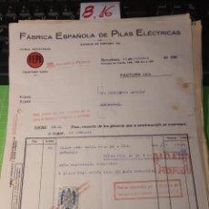 Facturas antiguas: FEPE. BARCELONA 1939. Lote 246057450