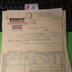 Facturas antiguas: KRAUSE UBRIQUE 1940. Lote 246057940